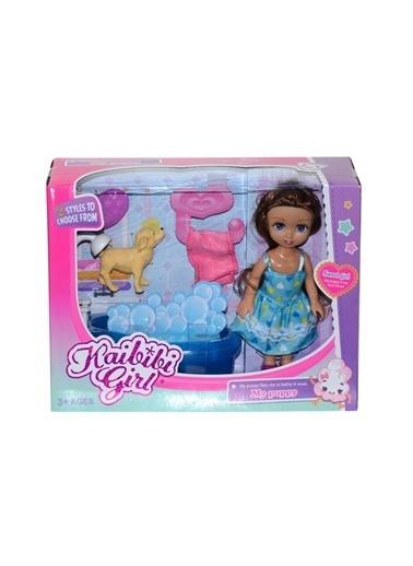 Birlik Oyuncak Birlik Oyuncak Bld226 Elbiseli Kaibibi Bebek Ve Banyo Oyuncak Seti Renkli
